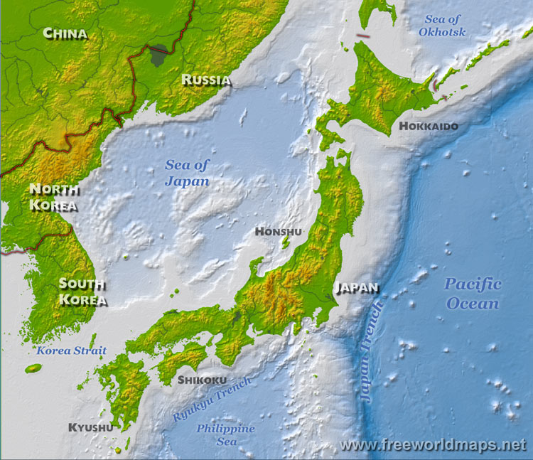 Japan Map In The World Regional City Maps Of Japan