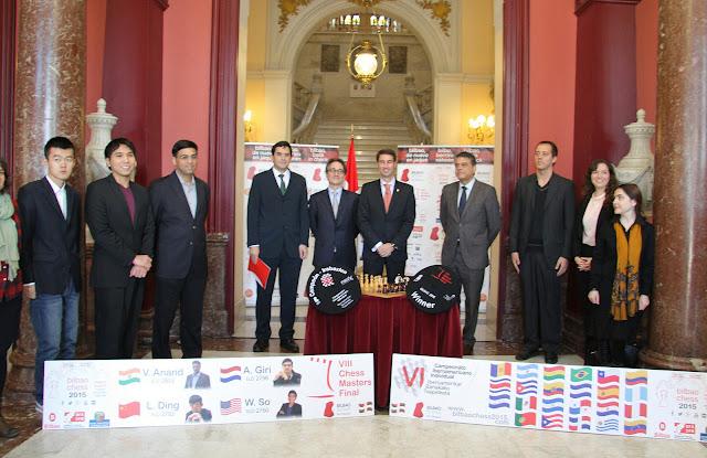 Foto de familia del Bilbao Chess Masters 2015