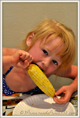 enjoying corn #sweetlife #MylilFloridagirl