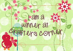 I m winner at crafters corner challenge# 1
