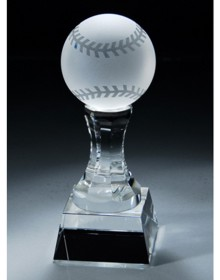 Awesome glass baseball trophy