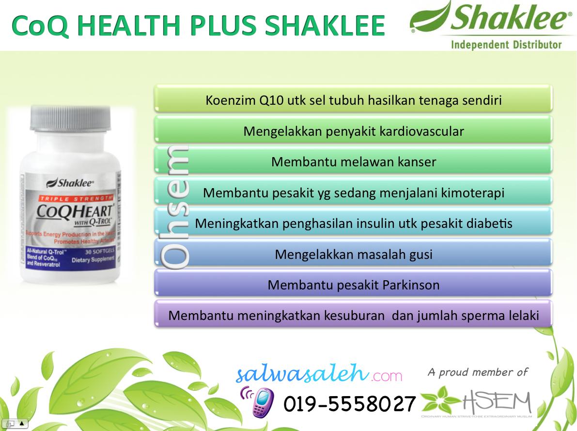 COQ10, COQ Health plus, shaklee new product, produk baru Shaklee, kesihatang jantung, COQ shaklee