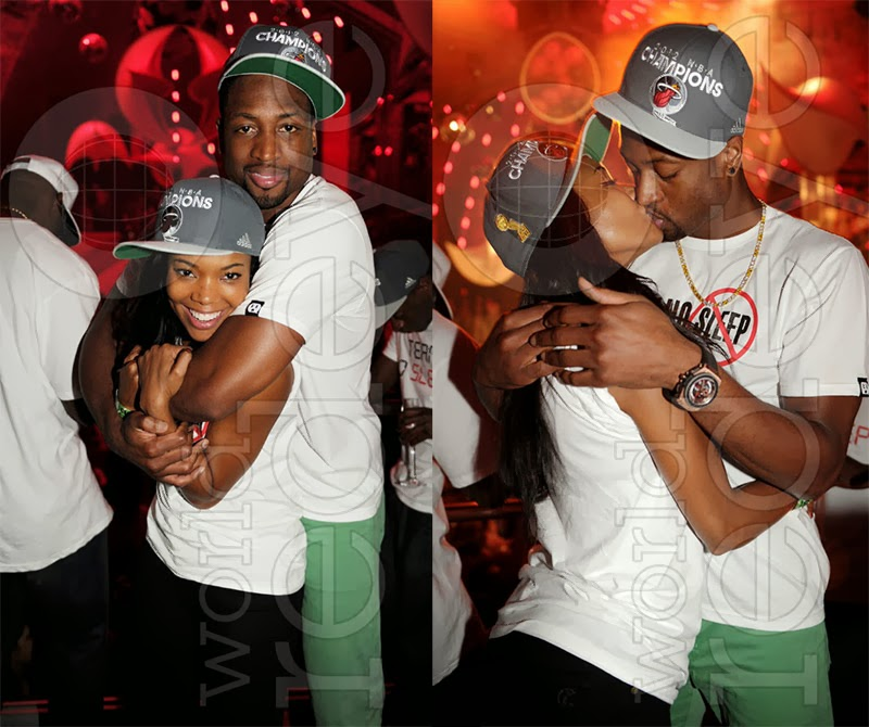 Gabrielle Union And Dwyane Wade Championship 2013 The A-List Zone...