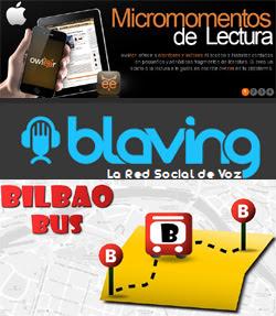 Blaving, Owleer.com y app de BilboBus para Android
