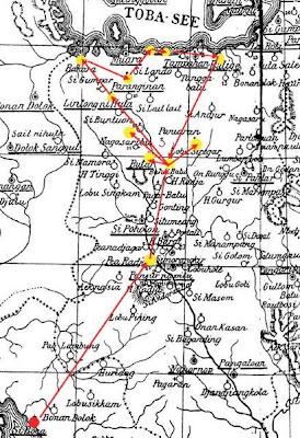 Peta Ekspedisi Toba 1878