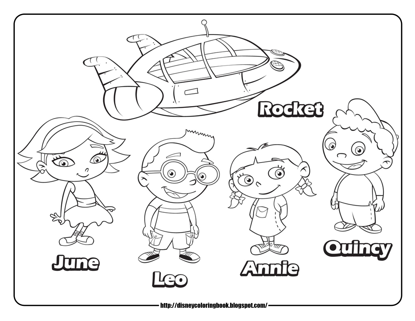 Little Einsteins Annie Coloring Pages Einsteins Coloring Pages