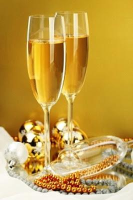 El sabor del champagne y la copa.