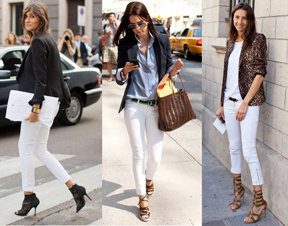 Moda Tendencias Looks Outfits Belleza Tendencias Jeans Blancos