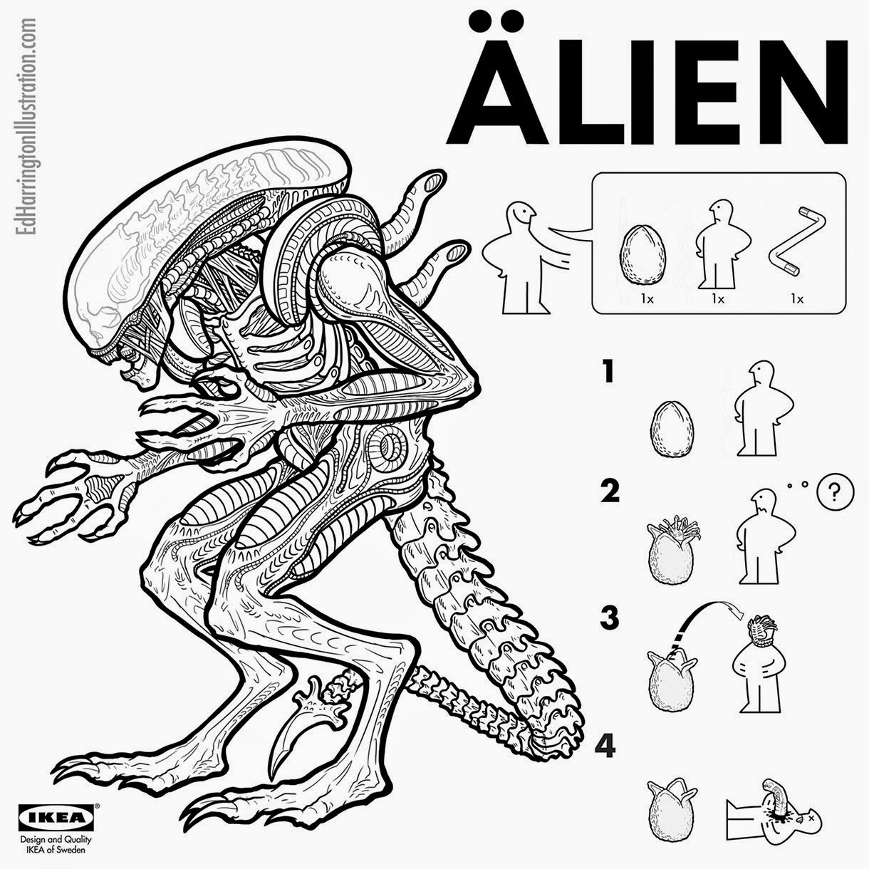 01-Alien-Ed-Harrington-Illustrations-Assemble-Monsters-with-IKEA-Instructions-www-designstack-co