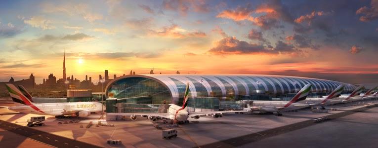 Dubai de yeni açılan A 380 terminali