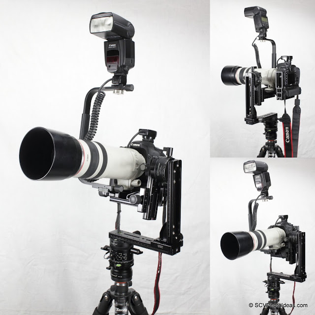 Desmond DAFB-01 on lens plate mount on gimbal head