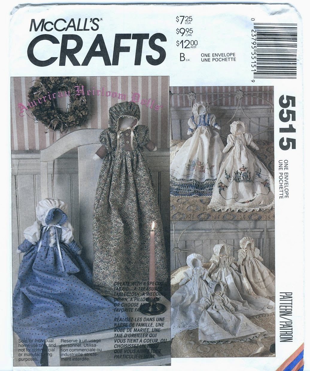 vintage cloth doll patterns mccall s crafts 5515