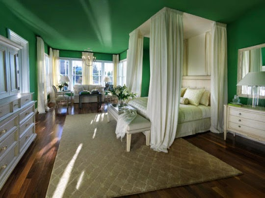 natural impression at green bedroom design - Green Bedroom Design