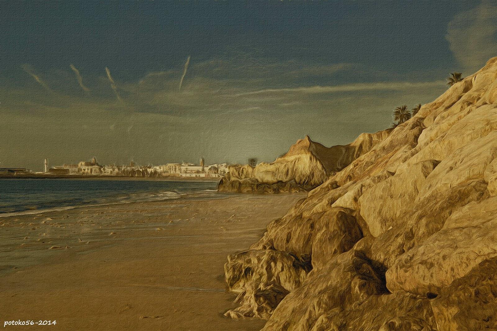Rota vista desde la playa de los Galeones