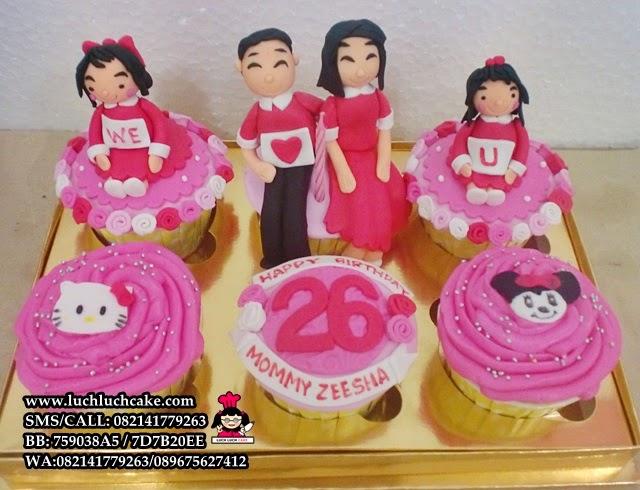 Cupcake Ulang Tahun Tema Keluarga Daerah Surabaya Sidoarjo