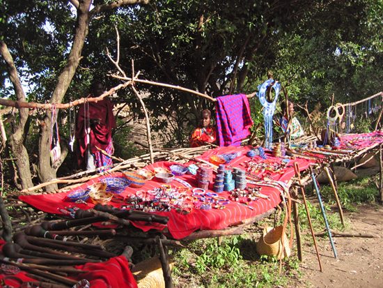 Safari Fusion blog | Shopping bush style | Maasai curios in the Kenyan bush