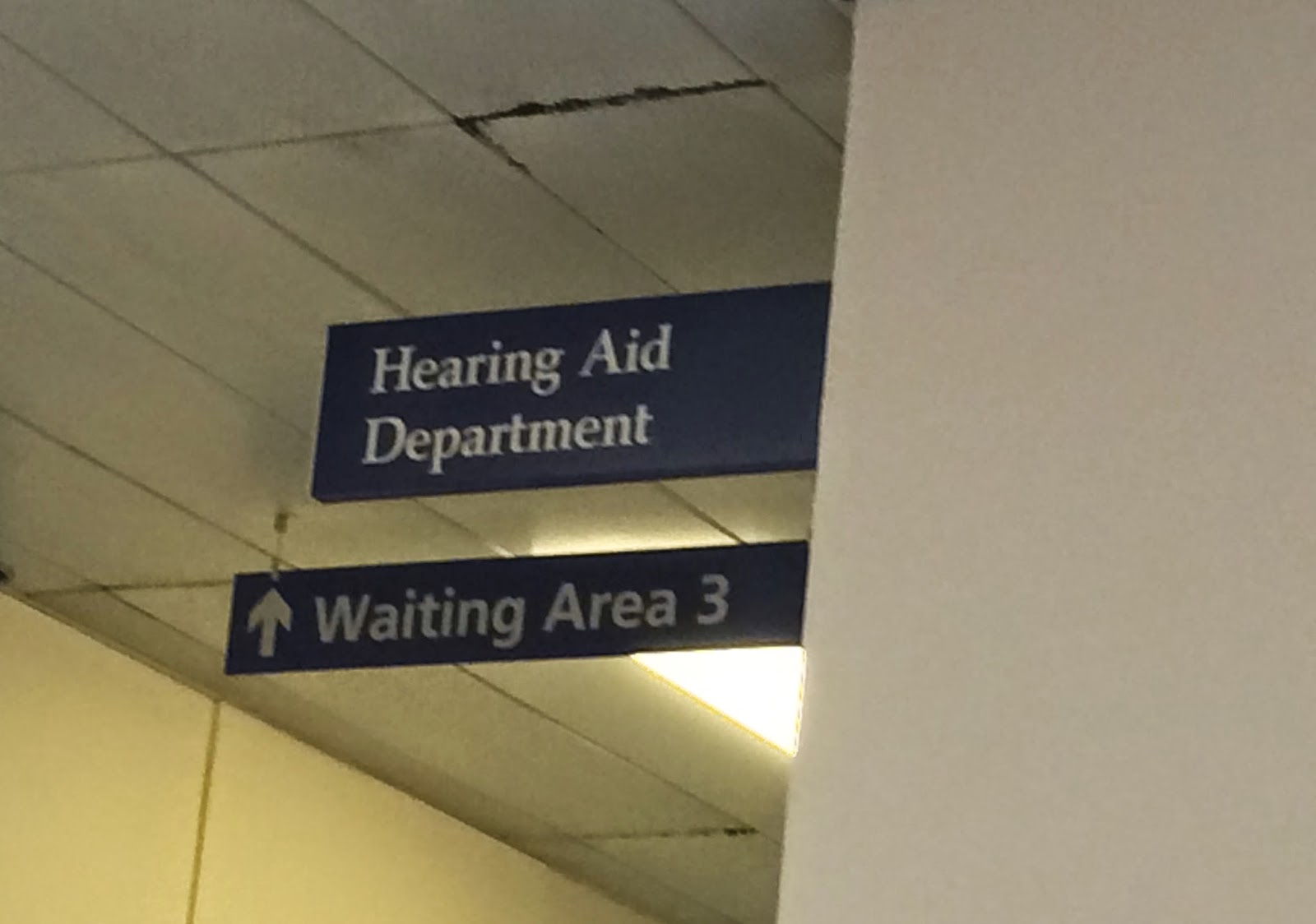 Audiology appointment at hospital