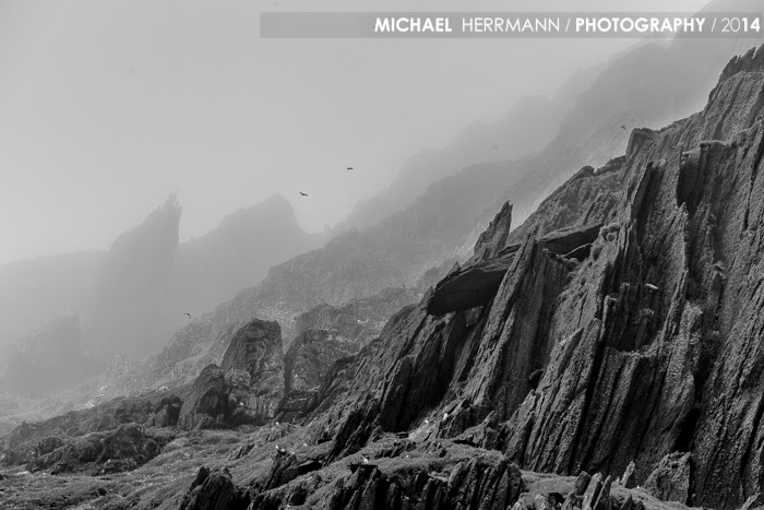 skellig michael, fog