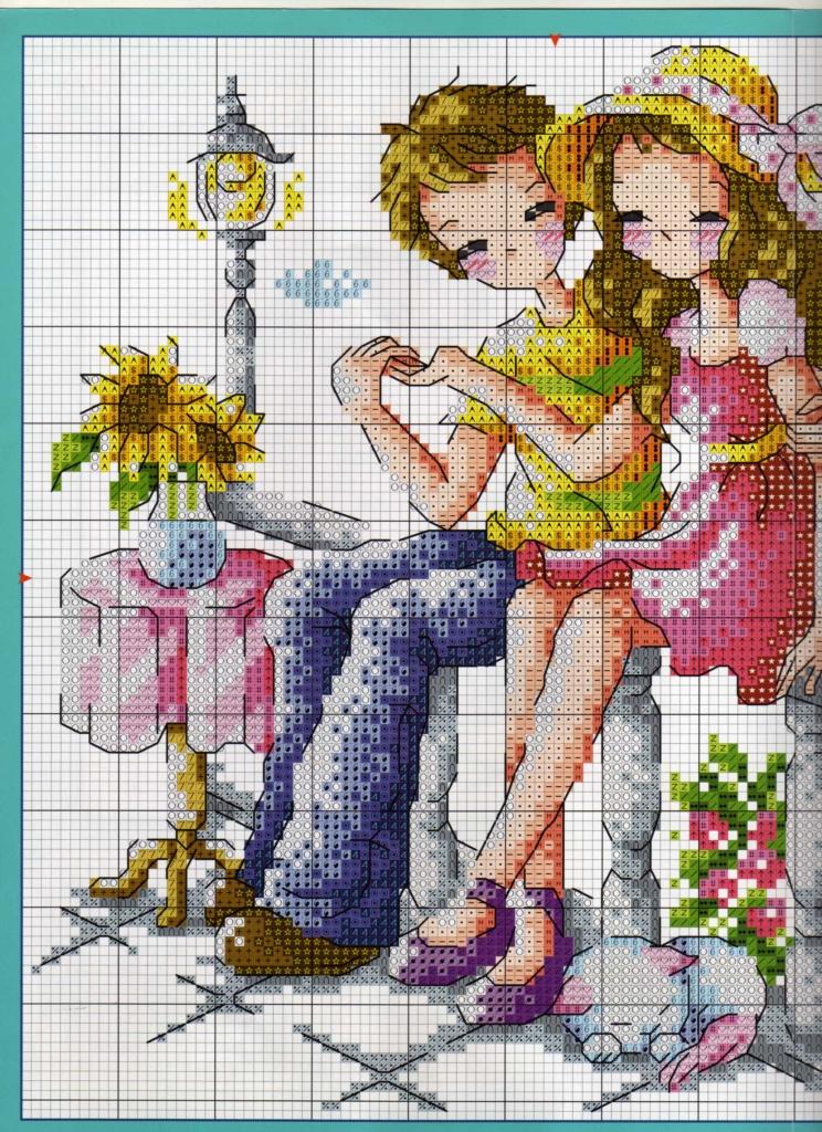 Романтика схема вышивки 10