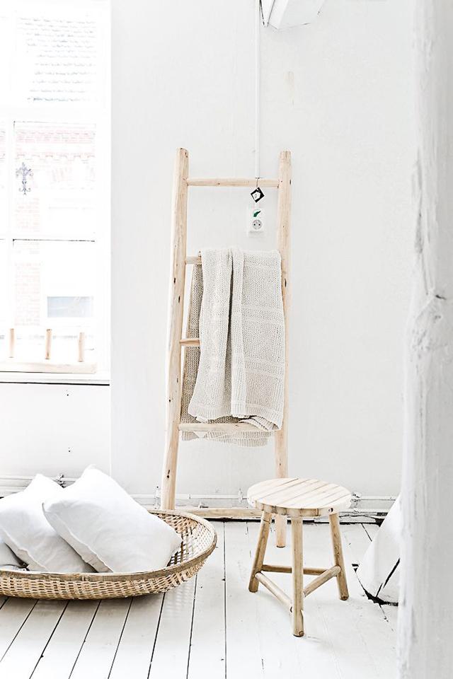 7 Usos decorativos para una escalera de madera