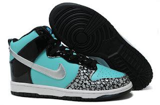 sb dunk girls nike high tops shoes tiffany custom black
