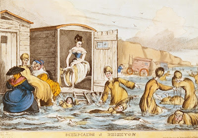 bathing machine in great britain, 19 century