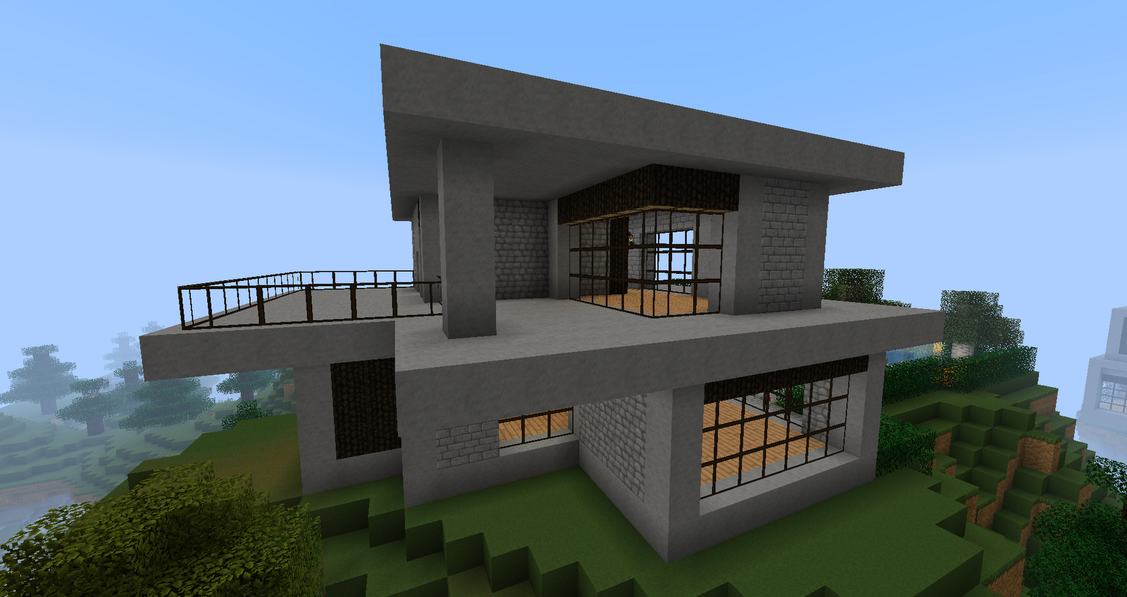 Ruked on minecraft modern house schematics 02 small for Modern house 52