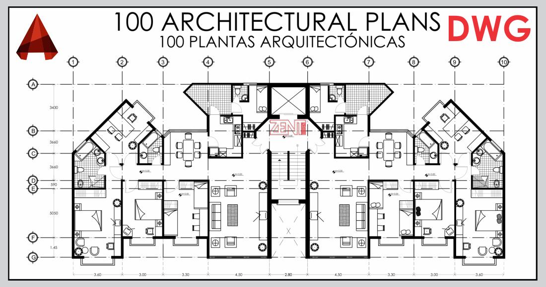 Zent design 2d 100 planos de casas de madera pdf for Plantas arquitectonicas de casas