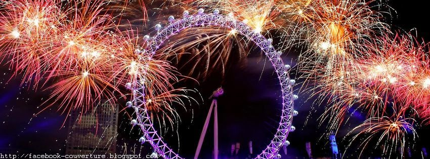 Photo d'une couverture facebook d'un feu d'artifice