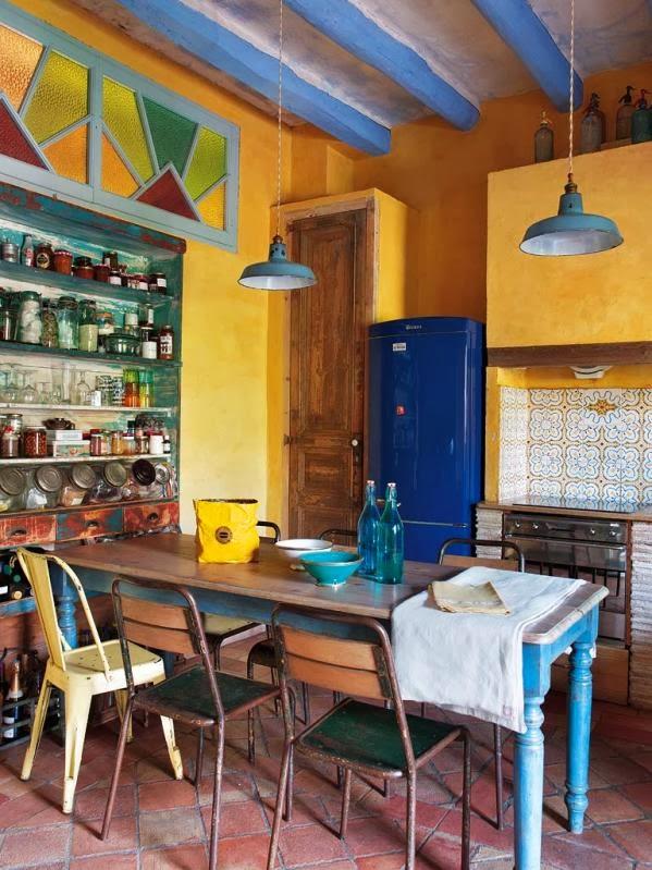 cocina con decoración vintage