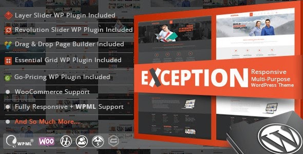 Exception WordPress Theme