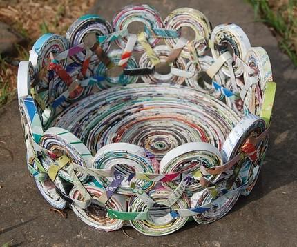 Manualidades hechas con revistas recicladas