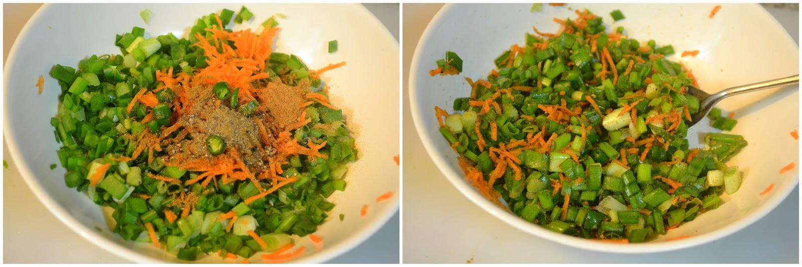 Spring Onion Paratha / Spring Onion Paratha Recipe / Step by Step