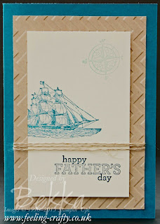 Fast Father's Day Card by UK Stampin' Up! Demonstrator Bekka Prideaux - check out her blog for lots of ideas with this stamp set
