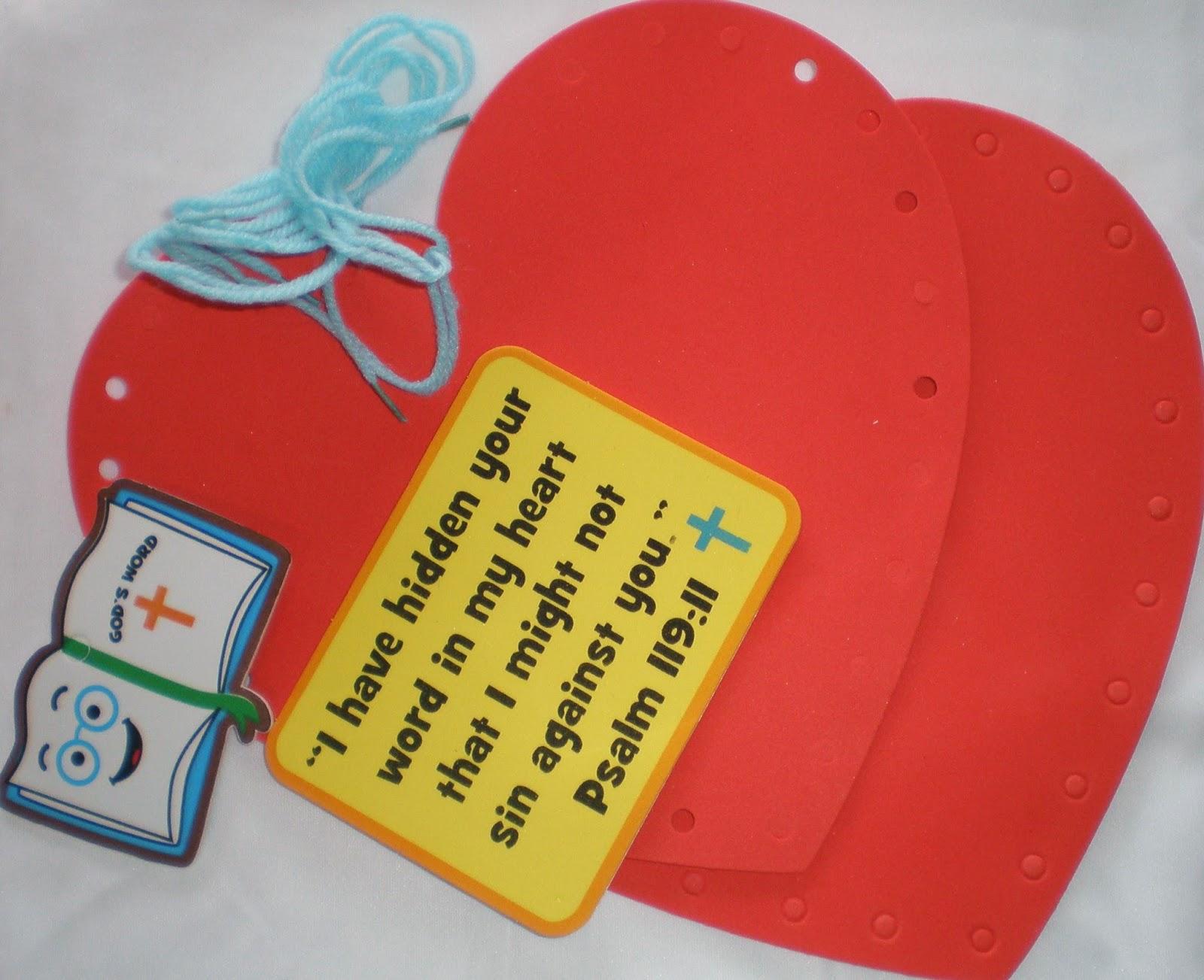petersham bible book u0026 tract depot lacing heart craft kit