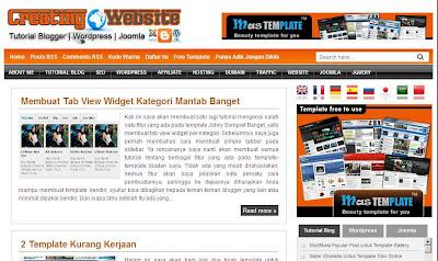 Template Creating Website Maskolis