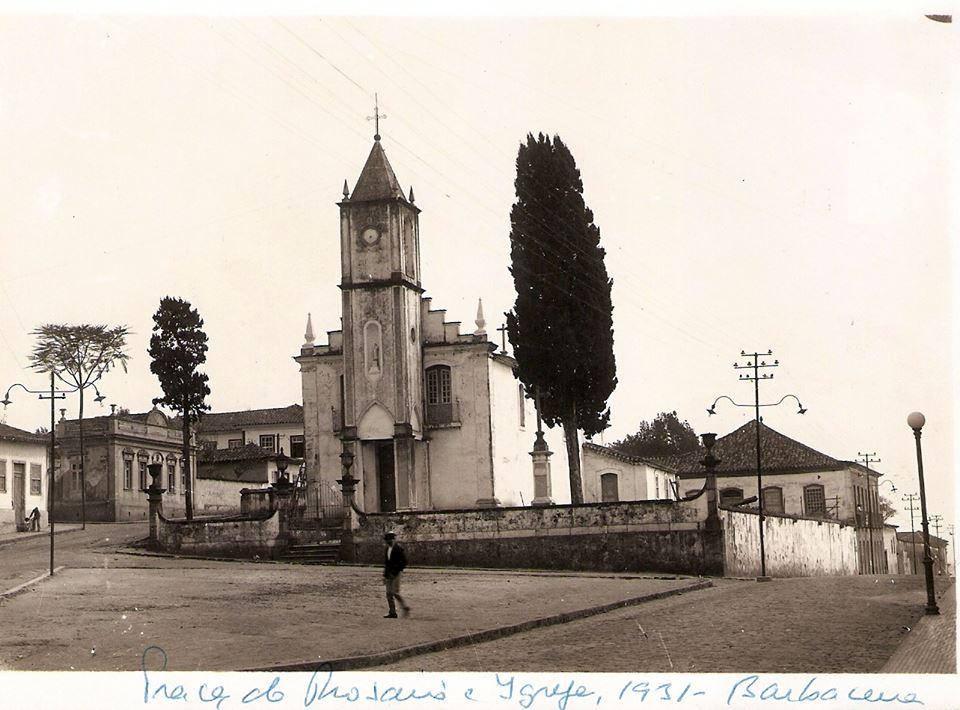 Igreja e Praça do Rosário de Barbacena MG 1931
