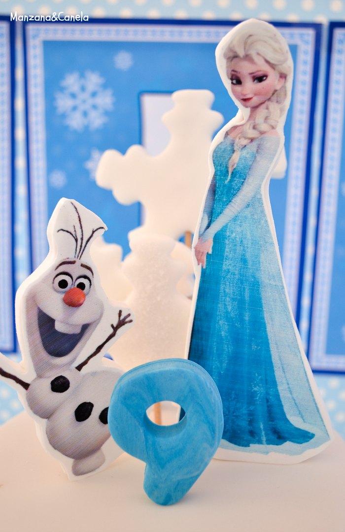 Manzana&Canela: Tarta de Frozen (otra vez), ahora para el cumpleaños de Lucía