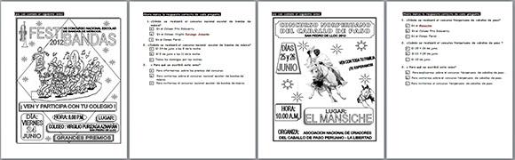 Veinte textos para comprensión lectora tipo ECE ~ RUTAS DEL APRENDIZAJE