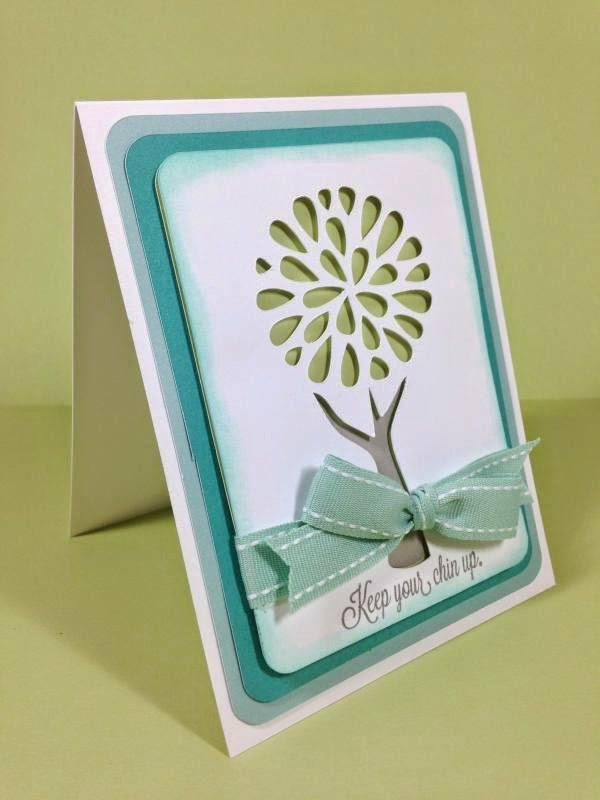 Close To My Heart Artfully Sent Cricut Cartridge Pretty Tree card sideview