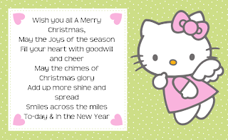 Free printable hello kitty christmas gift tags