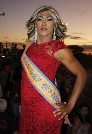 Valentina Dior foi eleita Miss Gay Santa Maria 2015 (Foto: Hernanny Queiroz/Gay1)