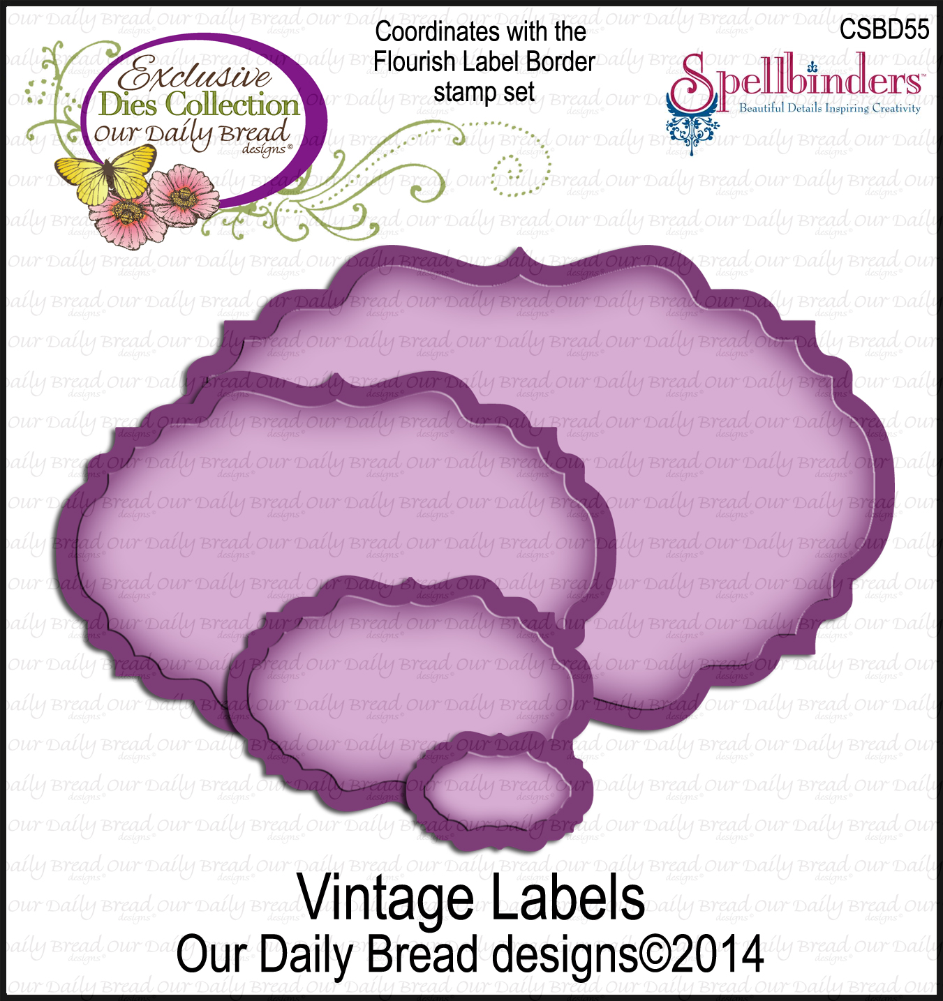 Our Daily Bread Designs Custom Vintage Labels Die