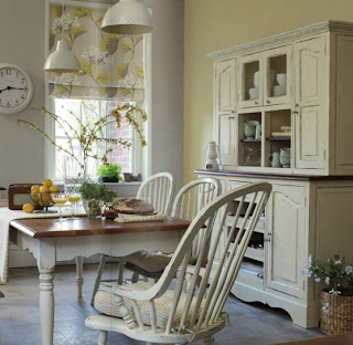 cocina blanca rustica laura ashley