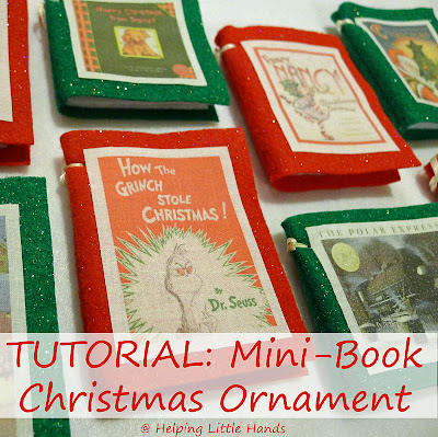 easy mini book christmas ornament tutorial