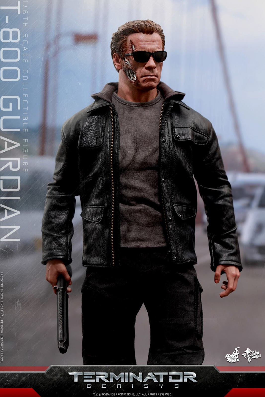 "1//6 T-800 Arnold Leather Motorcycle Jacket Set For 12/"" Hot Toys Figure"