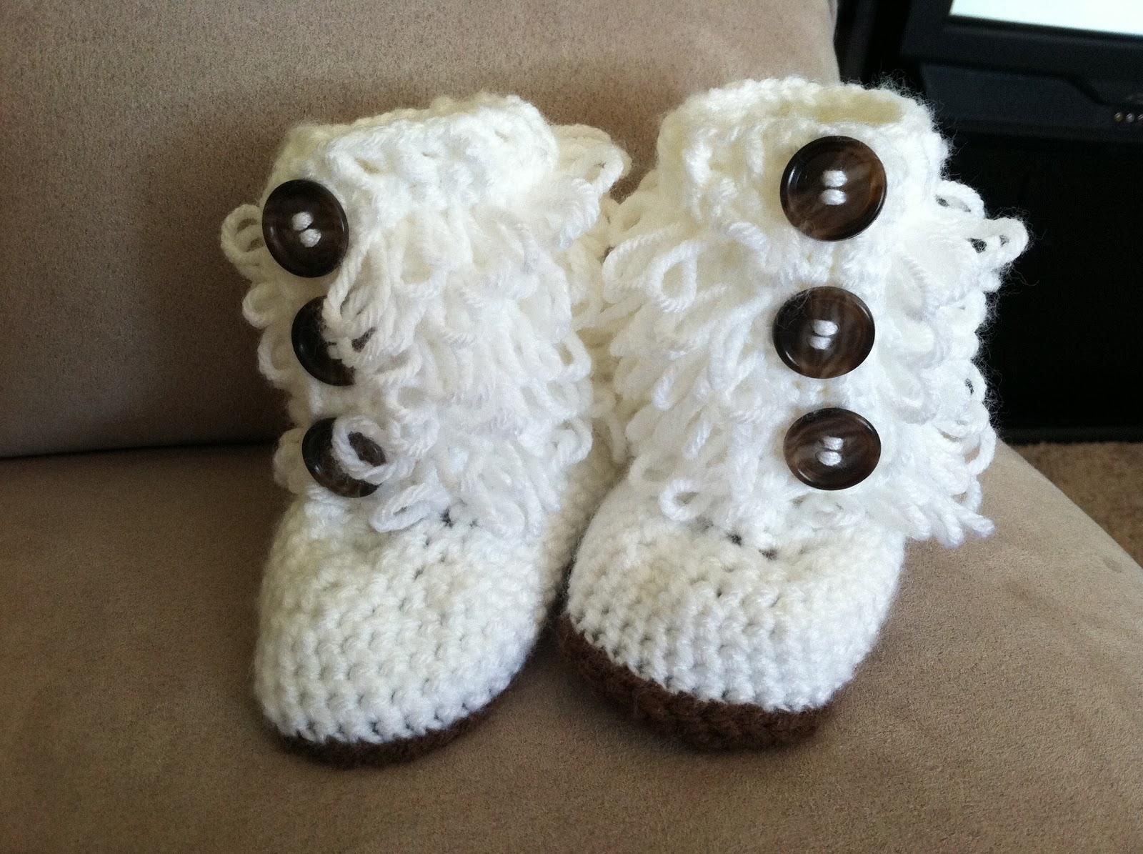 Crocheting Baby Stuff : Crochet Baby Boots