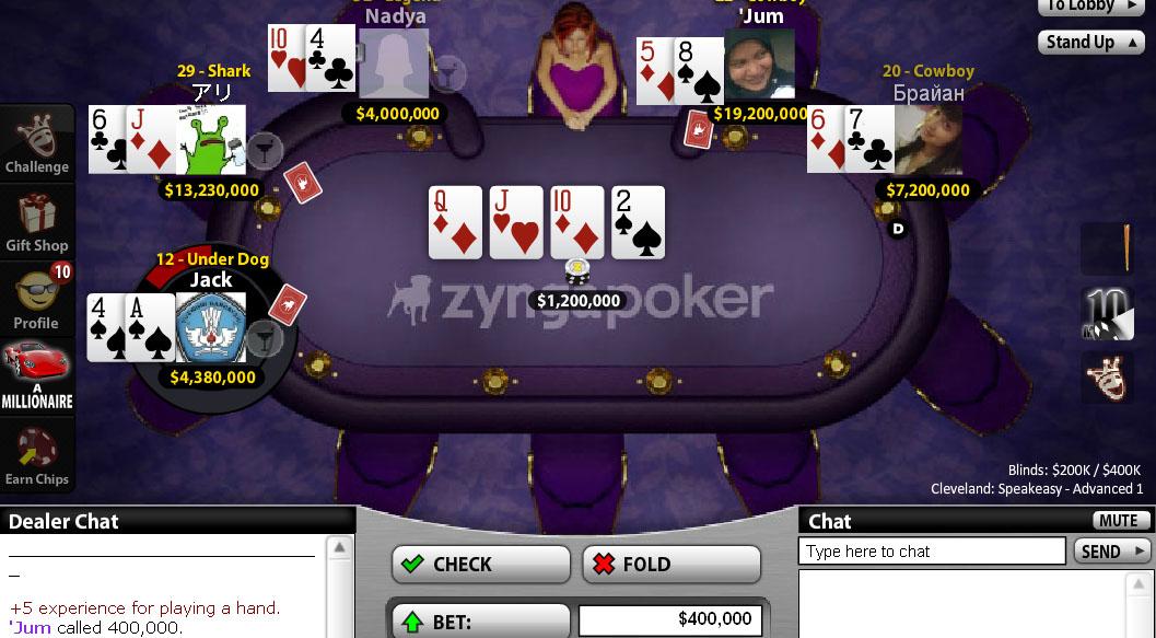 melihat kartu lawan zynga poker