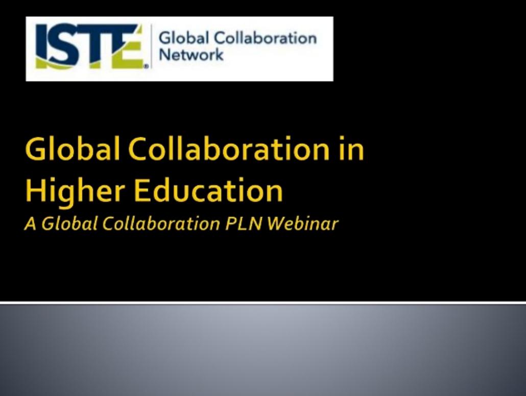 Collaborative Classroom Webinars ~ Dr z reflects iste webinar global collaboration in