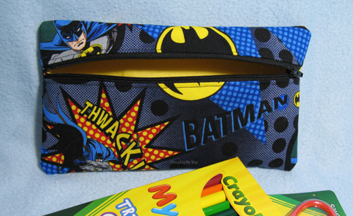 Batman Pencil Case ~ Threading My Way